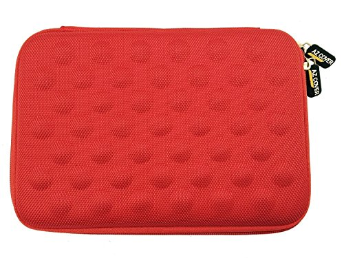 AZ-Cover 10-Inch Tablet Semi-rigid EVA Bubble Foam Case (Red) For RCA Viking Pro W101V2 B Cambio 10.1' 2-in-1 Tablet Laptop Computer + One Capacitive Stylus Pen
