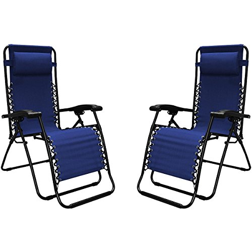 Caravan Sports Infinity Zero Gravity Reclining Chair 2pk Size: No Size Blue