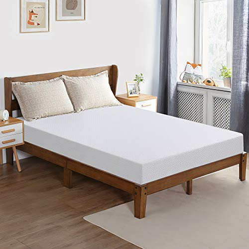 PrimaSleep 6inch Memory Foam Mattress Full Size,White,Smooth Top,Restful and Comfortable Sleeping