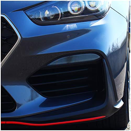 C046 Folieset, mistlampen, dagrijverlichting, tuningfolie, sticker, op maat gesneden auto-accessoires dark grey