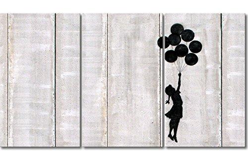 WandbilderXXL QuadriXXL Stampe d'Arte di qualità «Banksy No.3» 180x100cm - Disponibile in 6 Diverse Misure. Pronta per Essere appesa. Grandi Quadri su Tela a Basso costo.