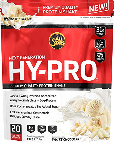 All Stars Hy-Pro Protein, White-Chocolate, 1er Pack (1 x 500 g)