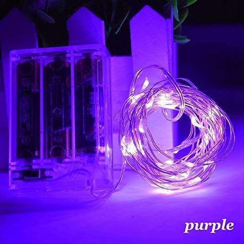 Guirlande lumineuse LED à batterie, utilisée pour la décoration de fête de guirlande de Noël Sapin de Noël clignotant Guirlande lumineuse A9 1m10 LED USB