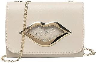 Crossbody Bags for Women Buckle Handbag Glitter Sequins Chain Shoulder Bag PU Leather Handbags Elegant Envelop Clutch Purse
