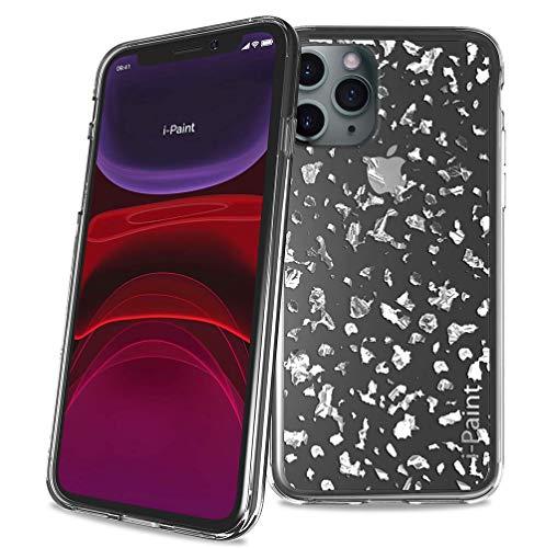 i-Paint Funda Protectora para iPhone 11 Pro MAX 6,5 Pulgadas, Plata con...
