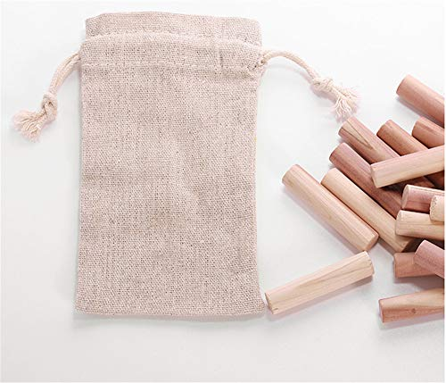 qwess Holzstreifen Insektenschutz Feuchtigkeitsbeständiger Mehltau Kleiderschrank Deodorant Reines Haushaltsaroma Deodorant Streifen 20