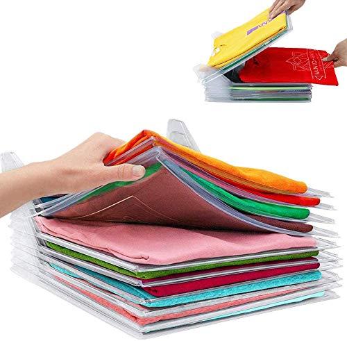 Nifogo T-Shirt Veranstalter,Multifunktionale Kleidung Ordner,Kleiderschrank Organizer,Schrank Organizer Essentials Sparen Sie Raum Falten Prävention (40PCS)