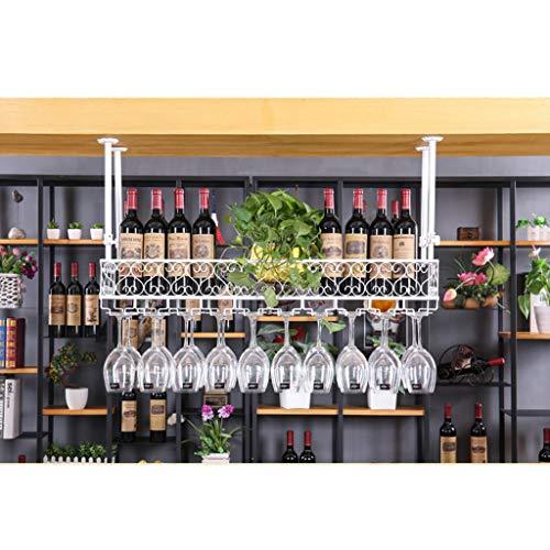 Botelleros para Vino Estante para vinos Portavasos de Vino Barro casero de Hierro Forjado Estante de cáliz Rojo del Hotel Estante para vinos de Varios tamaños Blanco y Negro