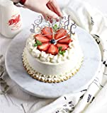 KUANDARMX Giradischi per Torta, Giradischi Girevole per Torta Fai-da-Te Espositore per Decorazione Torta in Marmo Naturale da 12 Pollici