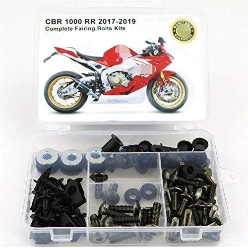 Per te Clips llena de la motocicleta carenado Tornillos Kit de tuercas de acero for Honda CBR1000RR 2017 2018 2019 (Color : Titanium)