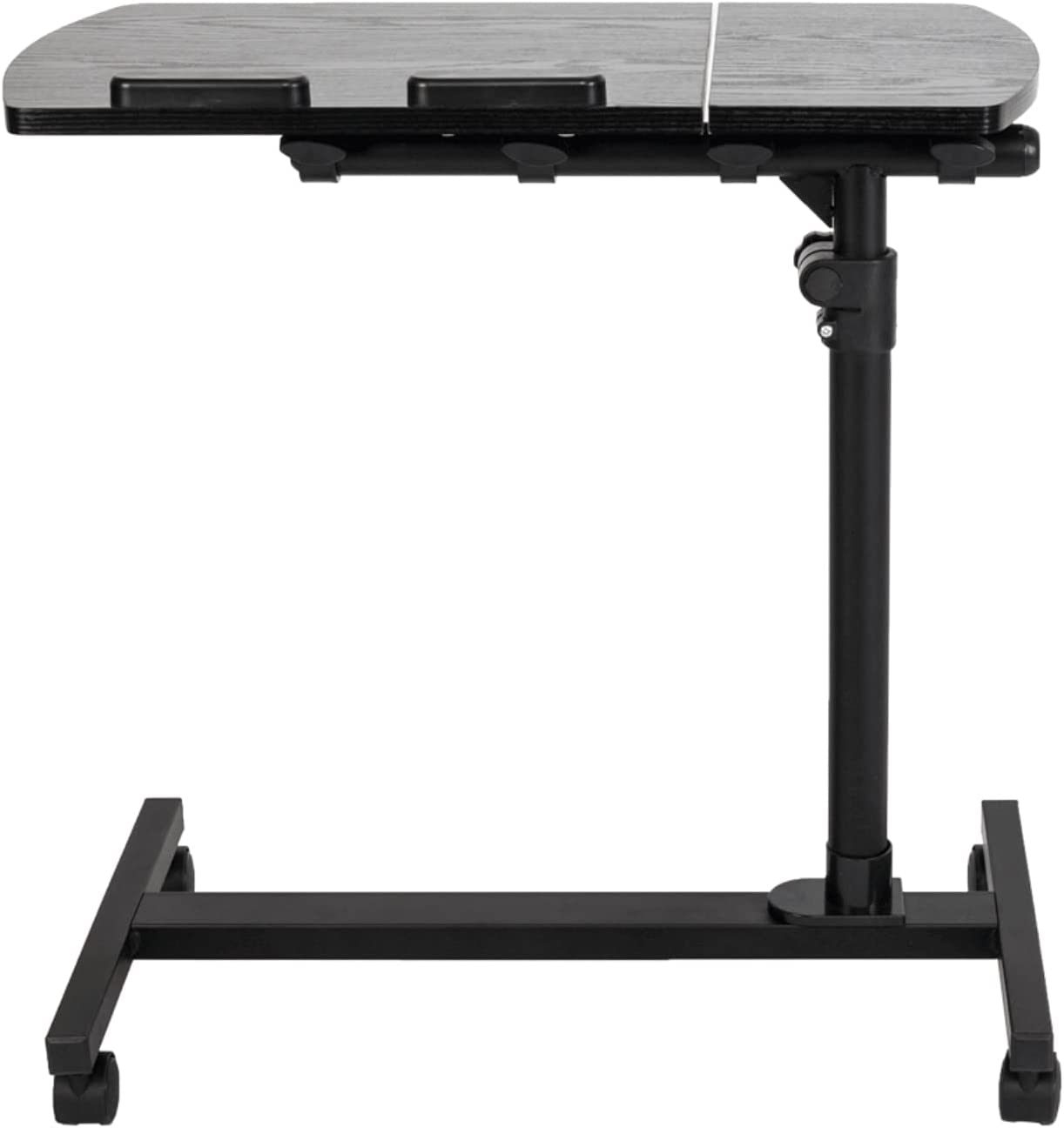 Bedside Table Max 63% OFF Rollable Four-Wheel We OFFer at cheap prices Laptop Tilting Stand Tray Tabl
