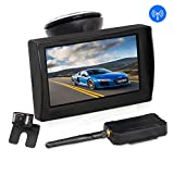 AUTO-VOX W1 Wireless Backup Camera Monitor Kit,IP 68 Waterproof Rear View License Plate Back up Camera with LED, Super Night Vision for Cars,Truck,Van,Caravan,Trailers,Camper