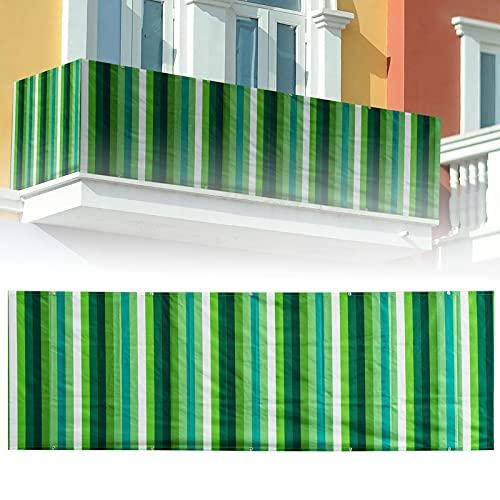 GGMWDSN Copertura Balcone Ringhiera, Rivestimento Recinzione Copertura per Balcone Giardino Privacy Frangivista, Copri Ringhiera Balcone Anti-UV, Diverse Misure,0.9x25m