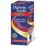 Diabetic Tussin DM Cough Suppressant/Expectorant Maximum Strength 8 oz (Pack of 3)