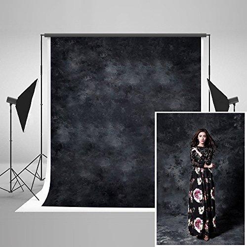 KateHome PHOTOSTUDIOS 2x3m Schwarz Foto Hintergrund Abstrakt Fotografie Hintergründe Requisiten Bedruckt Mikrofaser Hintergründe für Fotostudio