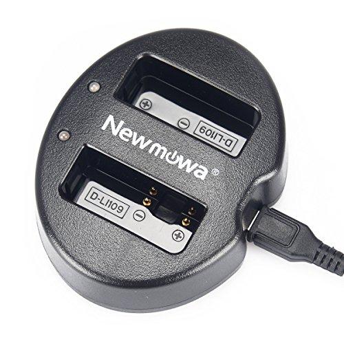 Newmowa USB Cargador Doble para Pentax D-Li109 Pentax K-R K-30 K-50 K-500 K-S1 K-S2