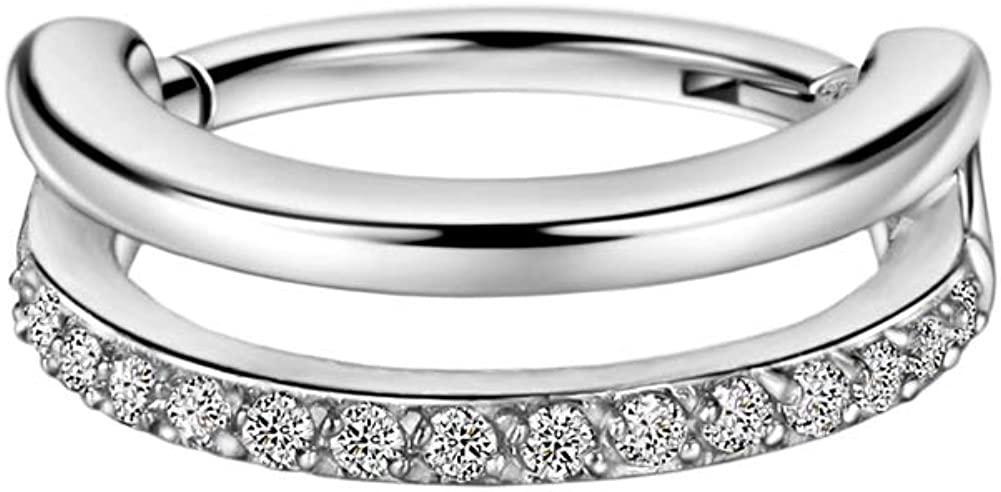 FANSING 16g Conch Piercing Jewelry CZ Latest item Zirconia Ring Cubic Elegant