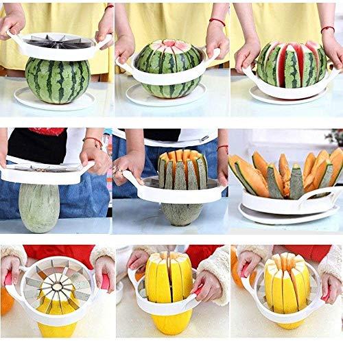 DIVISTAR 1 unids, Conveniente Cocina Fruta Herramientas de Corte Cortador de Melón Cortadora Cortadora Sandía Cantalupo Cuchillo Color Al Azar