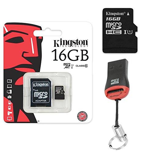 Originele Kingston 16GB MicroSD geheugenkaart SDHC + kaartlezer voor Samsung Galaxy J3 2017 Duos