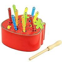 ESPERIENZA COINVOLGENTE: Composto da una fragola, 10 insetti e un bastone di legno, il nostro gioco. lo sviluppo precoce di giocattoli per consentire ai tuoi bambini di catturare insetti colorati sulla fragola, simpatici insetti sono nascosti nella f...