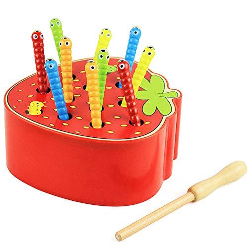 Felly Puzzle Legno Bambini 1 2 3 Anni, Montessori Giochi per Bambina Bimbo 1 Anno, Giocattolo in Legno, Giocattoli Educativo Regalo di Compleanno di Natale Capodanno