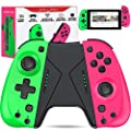 ESYWEN Joy-Con Controller for Nintendo Switch, Joy Pad Compatible for Nintendo Switch Console, Replacement Joy con with Macro Button and Grip Stand, Ergonomic Hand Joy-Con Joystick Remote Controller from Qixun Tech