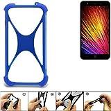 K-S-Trade® Handyhülle Für Leagoo Z7 Silikon Schutz Hülle Cover Case Bumper Silikoncase TPU Softcase Schutzhülle Smartphone Stoßschutz, Blau (1x),