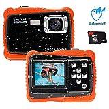 Unterwasser Kamera für Kinder,12MP HD Wasserdichte Digitalkamera,Mini Action Camcorder Kinderkamera,2.0 Zoll LCD Bildschirm