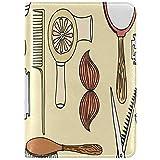 Reisepass-Schutzhülle Haarschnitt-Werkzeug Retro Design Barber Shop; Zweck-Print Reisepass-Etui Reisebrieftasche