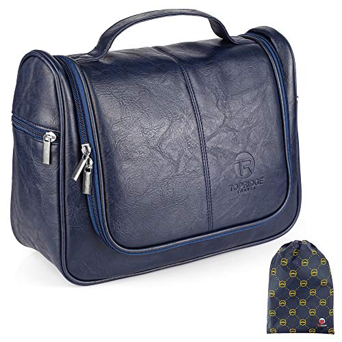 Hanging Toiletry Bag for Men with Pack Pouch | Large | Toiletries Bag Organiser | Multiple...
