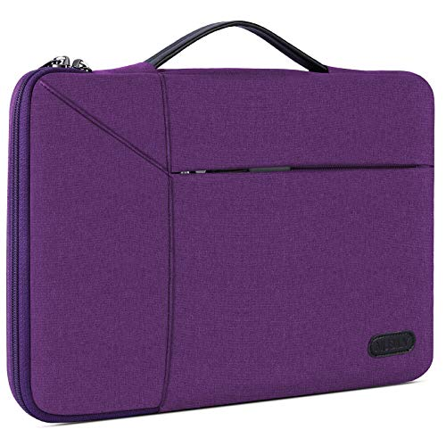 Laptop Sleeve Case 14 Inch Briefcase Waterproof Shock Resistant Laptop Cover Bag Compatible with Notebook Chromebook ThinkPad Ultrabook, MacBook Pro 15 Inch 2016-2019 Purple