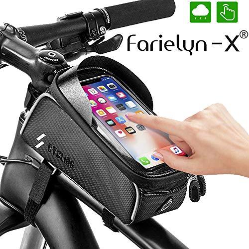 Farielyn-X Bike Phone Front Frame Bag-Waterproof Bicycle Top Tube Cycling...
