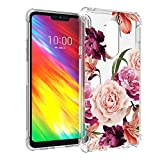 Osophter LG Q9 Flower Case, LG G7 Fit Case Floral for Girls Women Shock-Absorption Flexible TPU Rubber Soft Silicone for LG G7 Fit (Clear Flower)