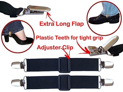 Verstellbare Hosenclips zur Sicherung der Hosenbeine, ideal für Motorradfahrer
