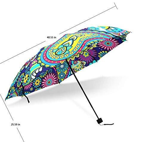 ZGMMM Automotische Opvouwbare Paraplu met Kleurrijke Patroon Paraplu Mode Vrouwen Nuttige Paraplu's Goed Geschenk