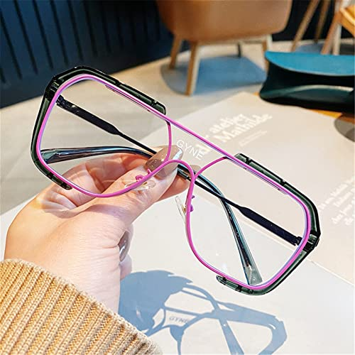 WWWL Gafas de Lectura, Gafas de Lectura Retro de Moda for niños y niñas Photo Outdoor Photo Gafas, for Leer periódicos, Trabajo, Unidad (Color : Purple, Size : +350)