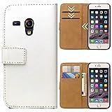 Roar Handytasche für Samsung Galaxy S3 Mini, Flipcase Tasche Schutzhülle Handyhülle für Samsung Galaxy S3 Mini Bookcase Wallet mit Magnet, Weiß