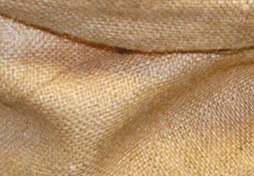 VERDELOOK Sacco in Juta Naturale 56x100 cm, per conservazione e Raccolta Foglie riutilizzabili