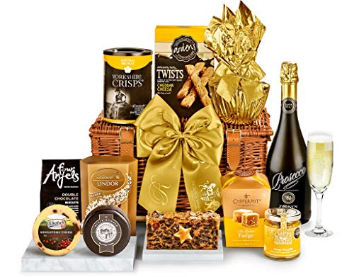 Bletchley Hamper With Prosecco - Hand Wrapped Gourmet Food Basket, in Gift Hamper Box