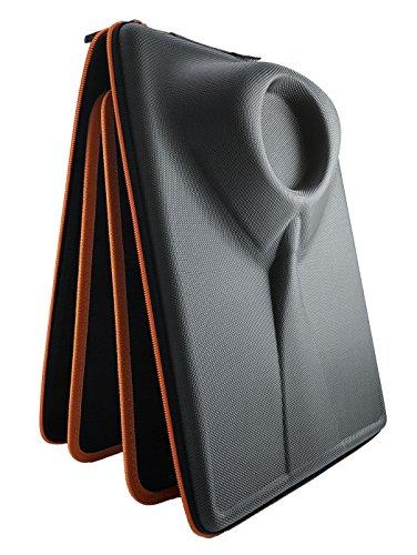 Packshi® Hemdentasche Knitterfreies Hemd Herren Hartschale Für Die Reise Hemden Transport Im Koffer Reisetasche Rucksack Kleidersack Mit Falthilfe Reise Geschenk für Männer Packshi Orange