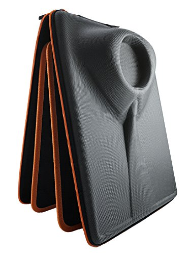 Packshi Shirt Carrier | Shirt Travel Case with Crease Free Shirt Folder &FREE Bonus Tag | Gifts For Men | Travel Accessories For Men Gadgets Packing Shirt Bags for Travel Protector Shuttle Box Orange