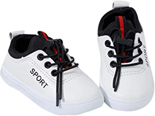 Hopscotch Boys PU Casual Wear Sneakers in White Color
