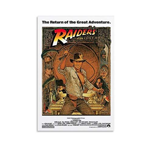 caonidaye Indiana Jones Raiders Of The Lost Ark Filmposter, ästhetisches Leinwand-Kunst-Poster und Wandkunstdruck, modernes Familienschlafzimmer, 20 x 30 cm