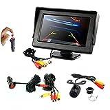 REARMASTER 4.3'LCD TFT Auto monitor e Telecamera retromarcia kit,con Connessione RCA, interruttore...