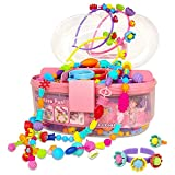 Pop Beads, Jewelry Making Kit for Girls, Art and Craft Toys Gift, DIY Bracelets Necklace Hairband and Rings Creativity Set for Kids Age 3 4 5 6 7 8 Year Old