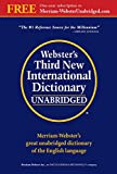 Webster's Third New International Dictionary, Unabridged