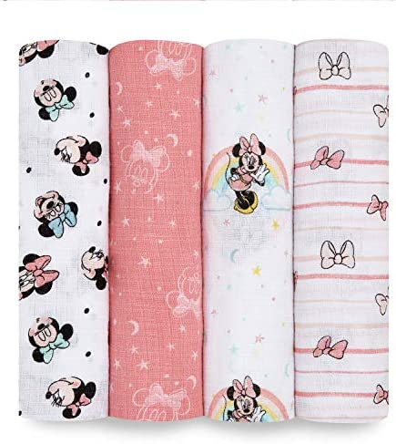 Aden by aden anais Swaddle Blanket Muslin Blankets for Girls Boys Baby Receiving Swaddles Ideal product image