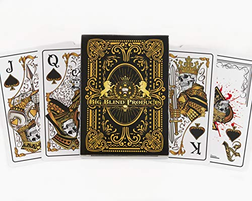 Big Blind Products Sleek Original Hand Drawn Designs Dead Money PVC Playing Cards-Water Proof Deck of Cards, Spill Proof Poker Cards, Quality Plastic Playing Cards