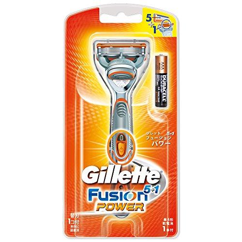 ジレット 髭剃り フュージョン5+1 パワー 本体