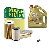 Inspektionspaket MANN-FILTER + 5L Castrol Edge 5W30 Filterset Service-Set SET P-H-05-00108 Service/Wartung